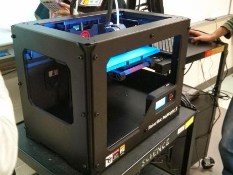 The newest member of the Robotics team: a 3D printer.  Photo courtesy of the Steel Hawks.