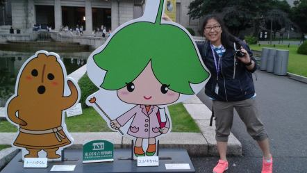 Joice poses while on her trip to Japan. Photo  courtesy of Joice Im