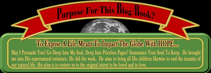 Purpose for Book banner n ribbon Red Green