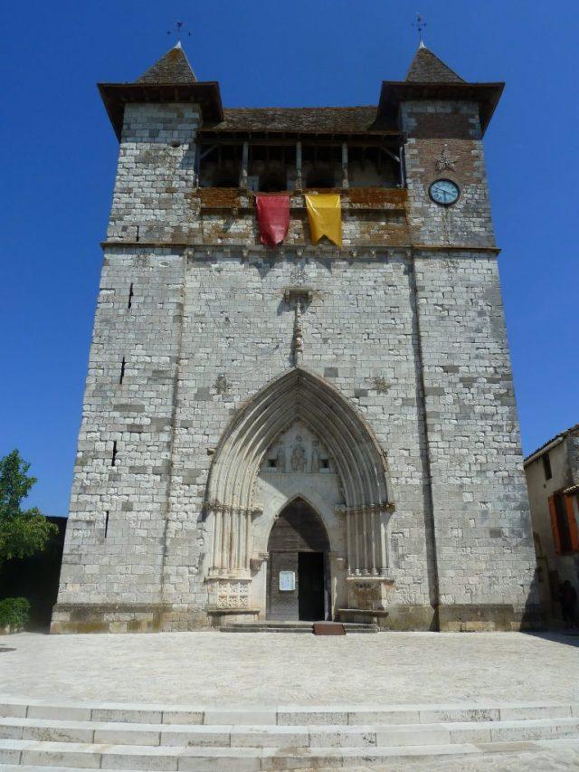 Façade de l'église de Villeréal