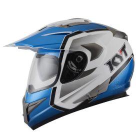 helm KYT Enduro Biru Putih Bekas