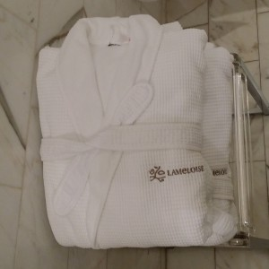 Plush bath robe from Lameloise