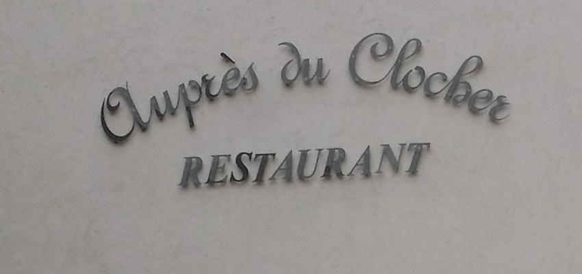 Aupres du clocher, restaurant in Pommard, Burgundy France