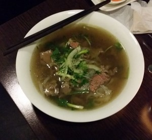 Pho tai, Vietnamese traditional beef noodle soup at Asiaway, best Asian restaurant in Zurich
