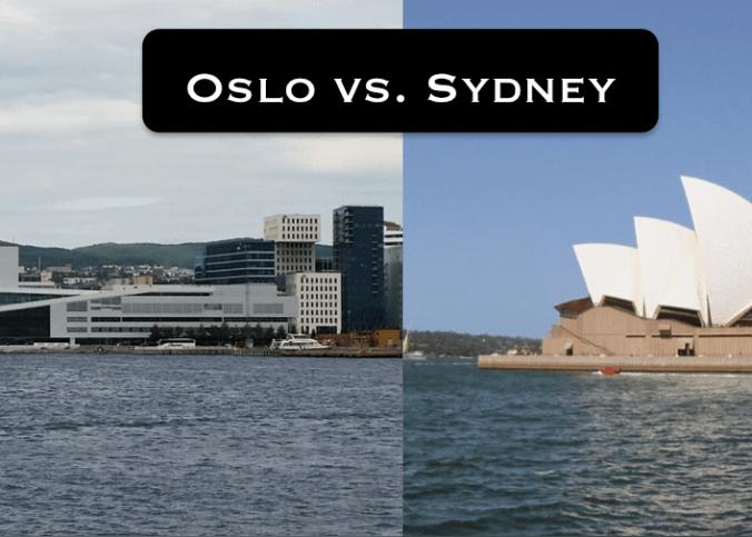 Oslo vs Sydney