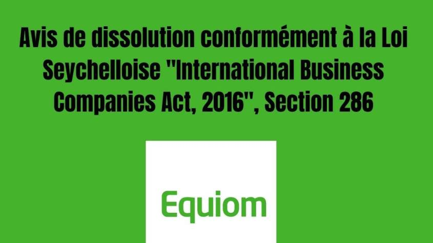 """""""International Business Companies Act, 2016"""", Section 286:"""