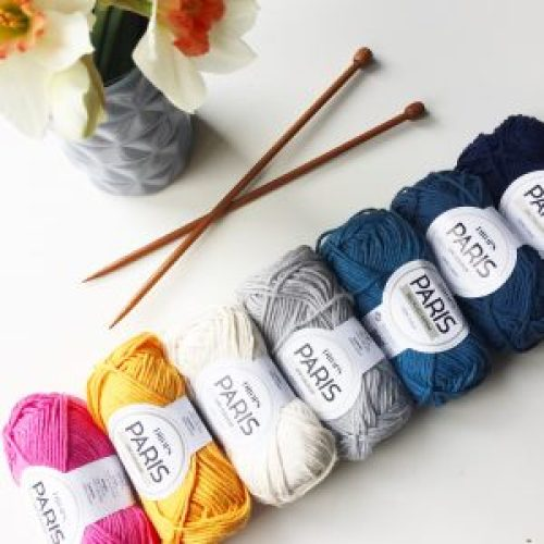 See what I knit with this beautiful yarn combination!