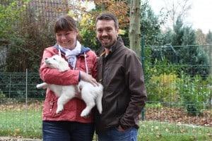 Yasha ist ab jetzt in Kamen bei Kerstin, Tim und den Kindern zuhause.