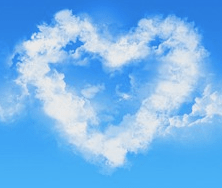 blue cloud heart