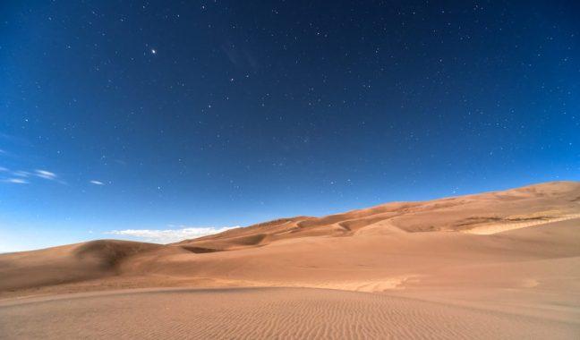 desert and stars
