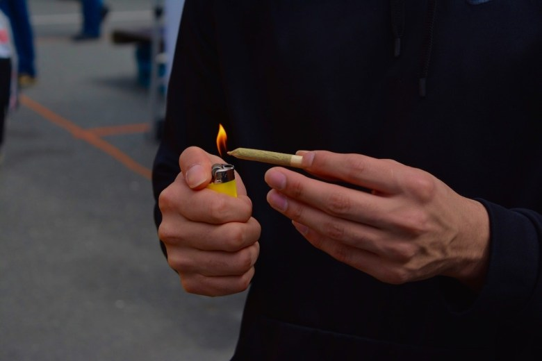 lighter and joint