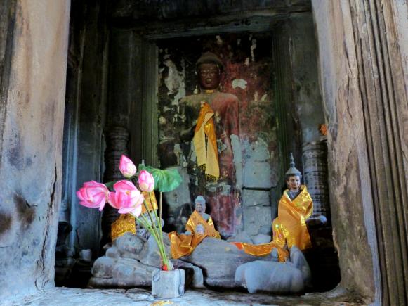 A shrine inside Angkor Wat.