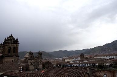 A hillside view of the Plaza de Armas.