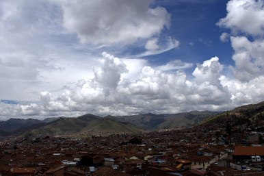 Shortly after one of Cusco's fast moving storms.