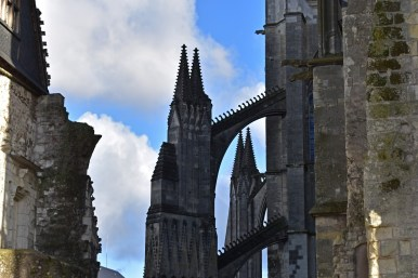 The side turrets of Tours Cathedral.