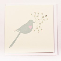 Cream-Gifting-Card-With-Grey-Blue-Bird-With-Pink-Heart-And-Green-Heart-Branch1