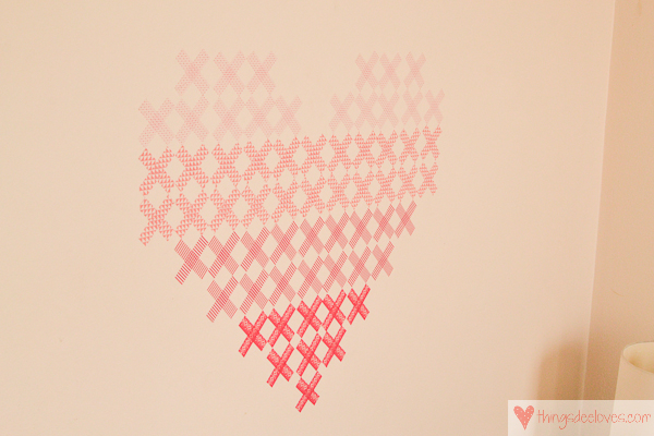 washi tape heart mural-10