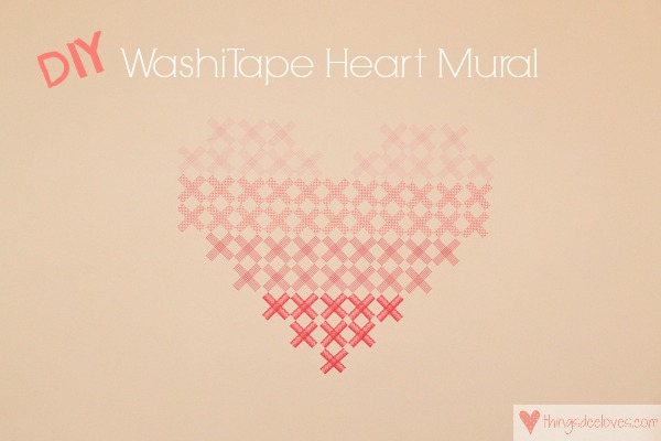 washi tape heart mural-9a
