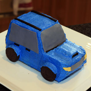 Subaru Forester 2nd Birthday Cake