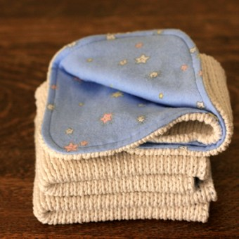 Cotton Sweater to Baby Wash Cloth