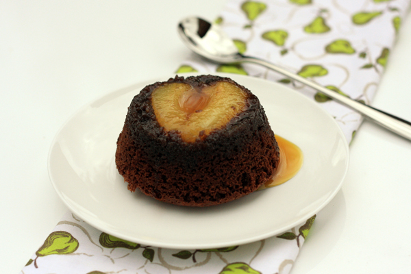 Chocolate Pear Almond Pudding
