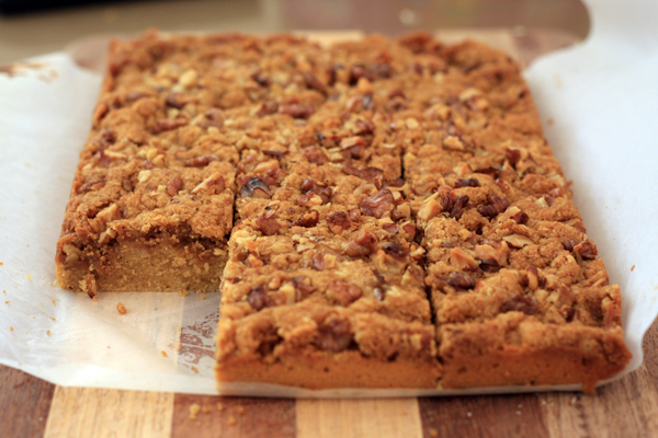 Walnut Crumble Coffee Slice