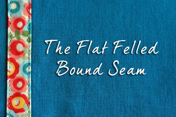 Flat felled bound seam