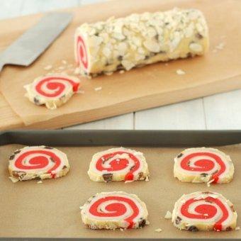 Stollen Inspired Spiral Cookies