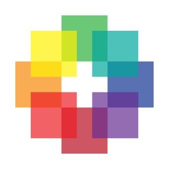 Rainbow Luminous Quilt Block