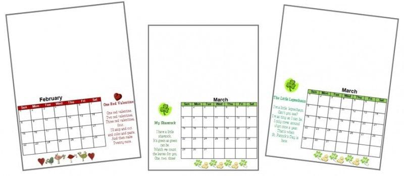 Preschool Calendar January 2014