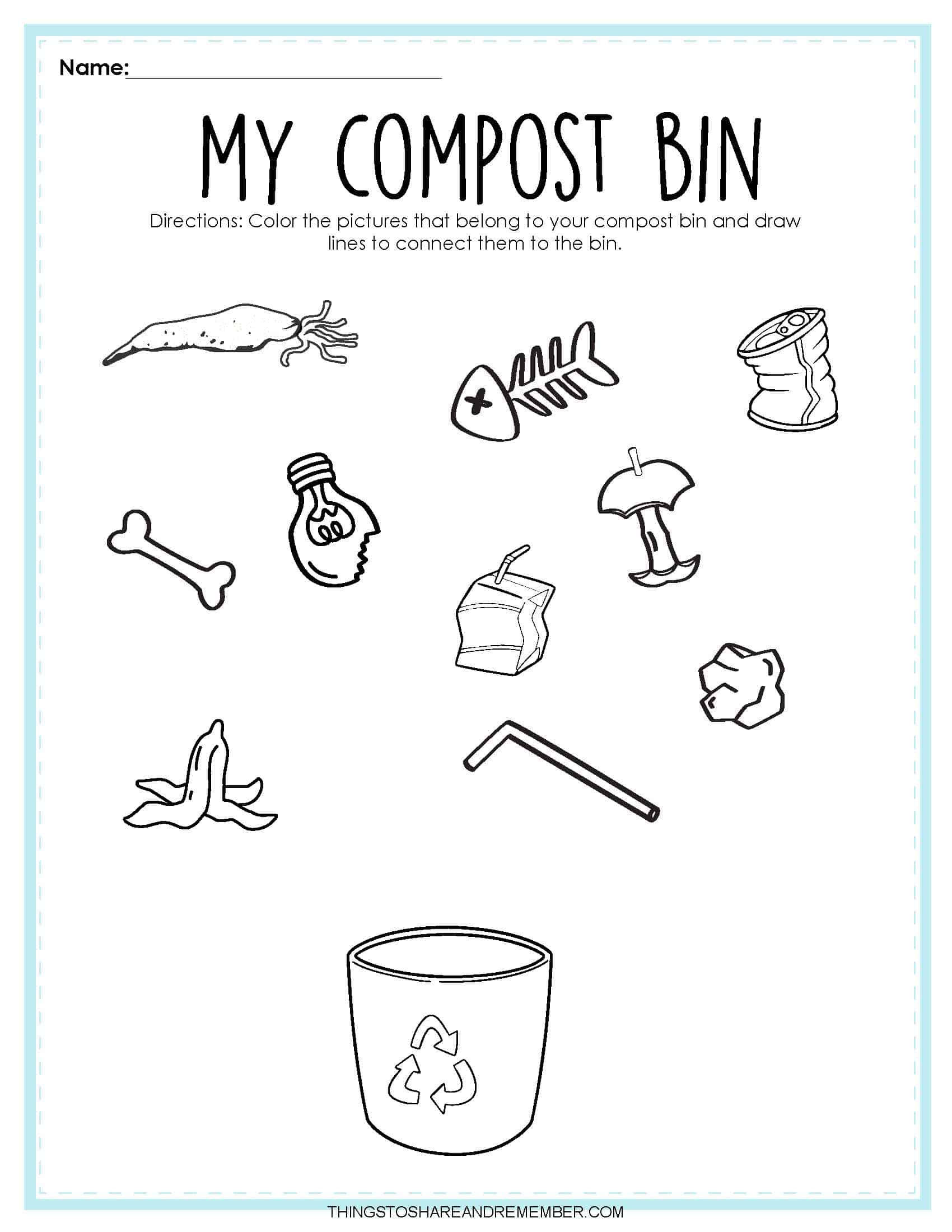 Recycling Activities Printables Share Amp Remember