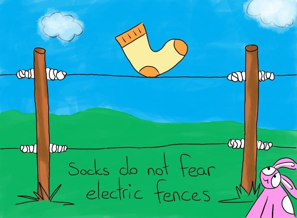 64: Socks don't fear