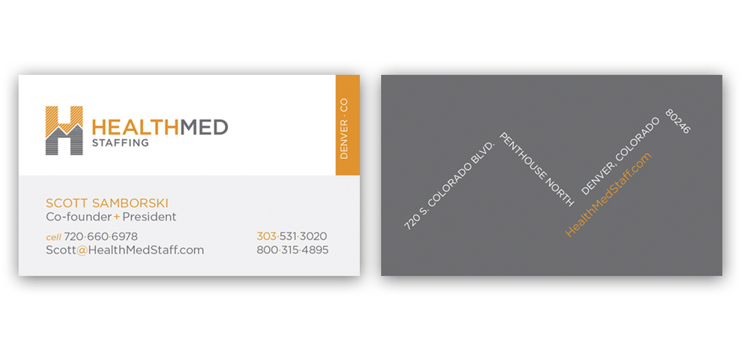 HealthMed Staffing business cards