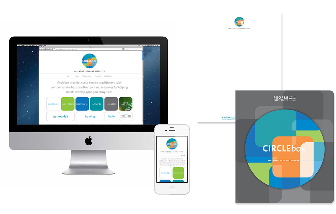 Circlebox website & stationary
