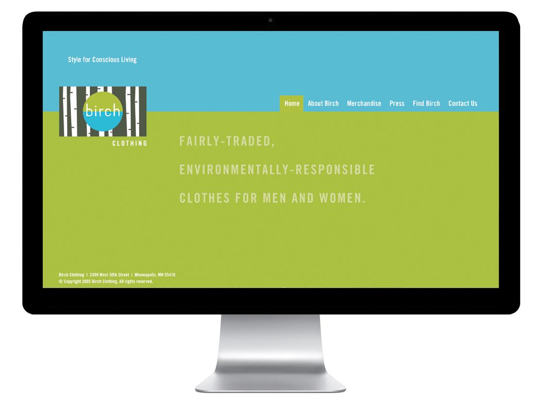 Birch Clothing website