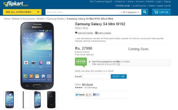 the best attitude f2d3a 1f9ab Galaxy S4 Mini up for pre-order on Samsung's e-store | Rohidas ...