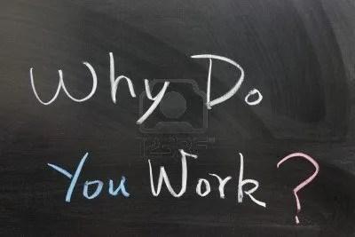 perchè lavoriamo