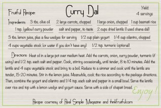 curry-dal recipe