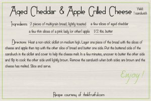 aged cheddar apple grilled cheese recipe