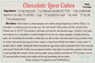 chocolate-lava-cakes recipe