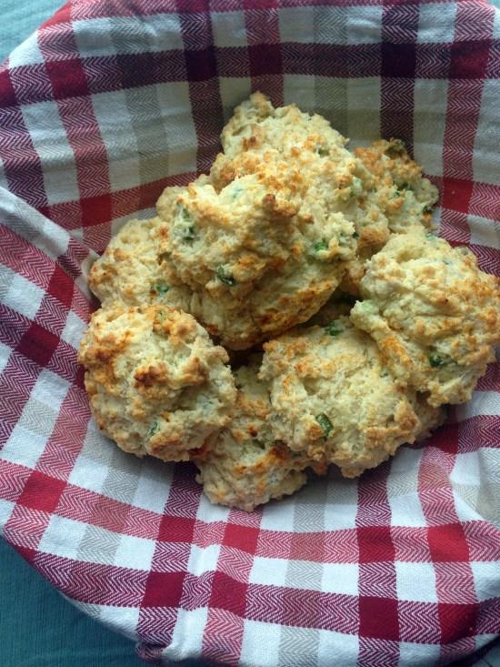 sour cream scallion biscuits