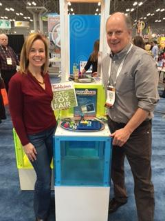 Bill Ritchie with Suzanne Kantra of Techlicious at Toy Fair