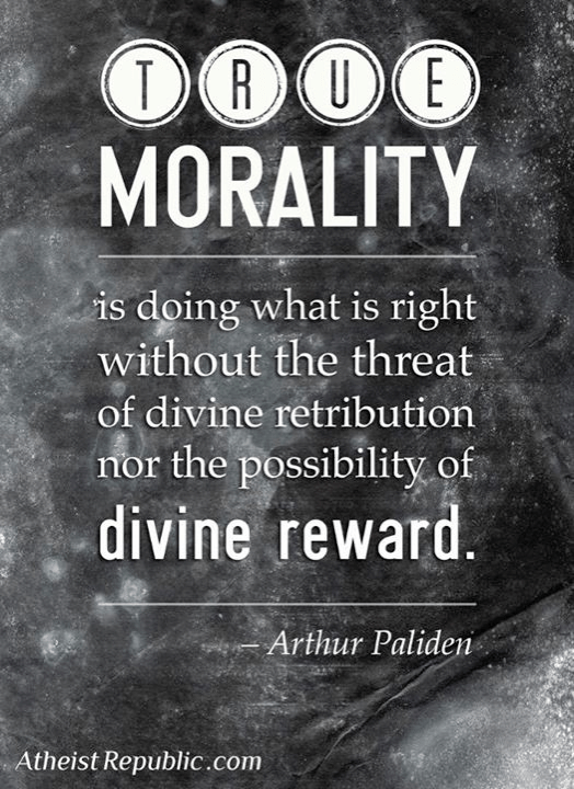 Does this make atheism more ethical than Christianity?