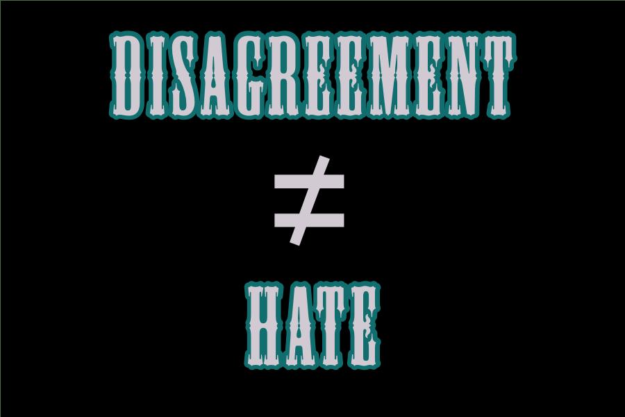 Disagreement≠Hate