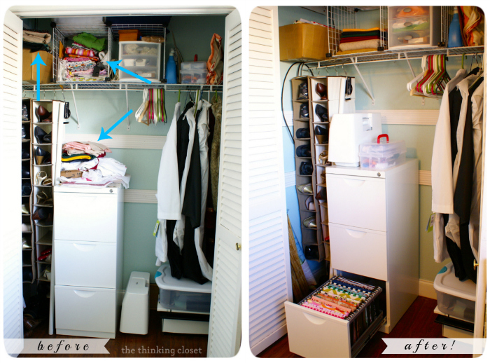 Filing Your Fabric | Before & After | The Thinking Closet