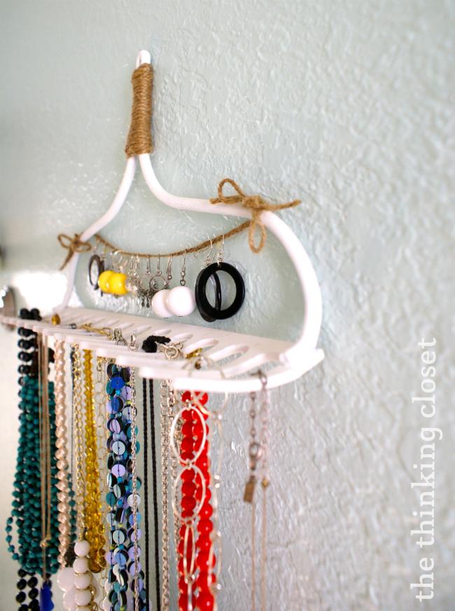 DIY Rake Necklace Hanger The Thinking Closet