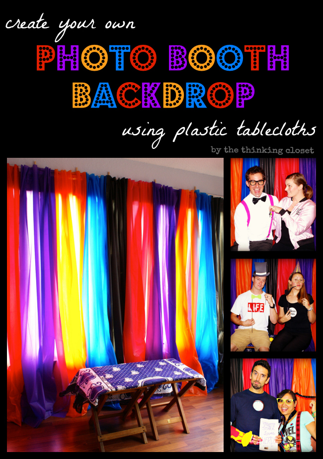 Create Your Own Photo Booth Backdrop Using Plastic Tablecloths From The Dollar Shockingly Easy
