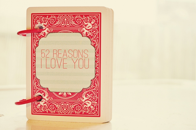 52 Reasons I Love You: Last Minute Valentine's Day Gift Idea