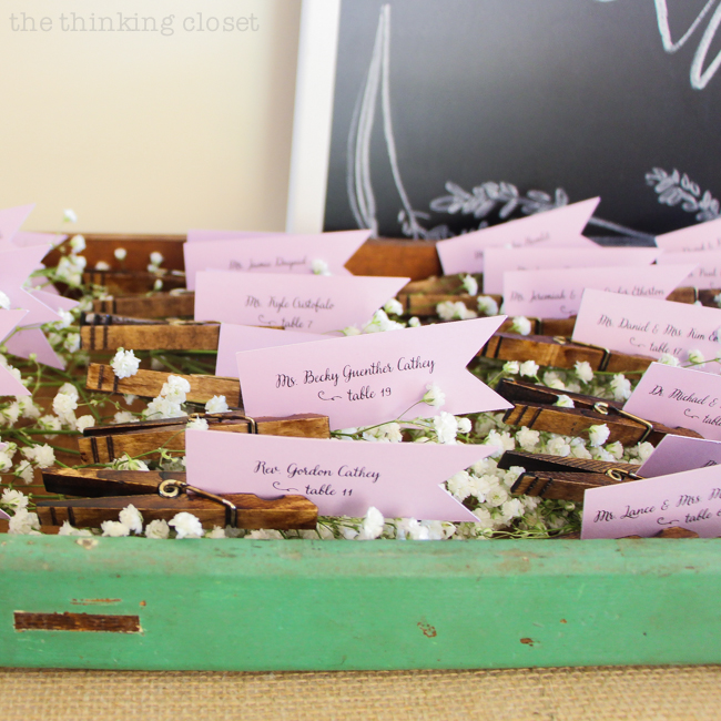 Diy Rustic Vine Clothespin Place Card Holders Love That Can Save On Cost But