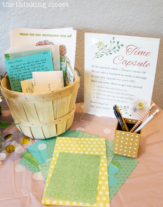 Juniper S Blooming First Birthday Bash The Thinking Closet
